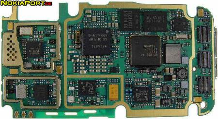 nokiatuningnet PCB layout of Nokia 3230